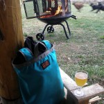 Warm fire, glass of spirits, energetic dogs, what more could you ask for at a Grand Teton Brewing Company event