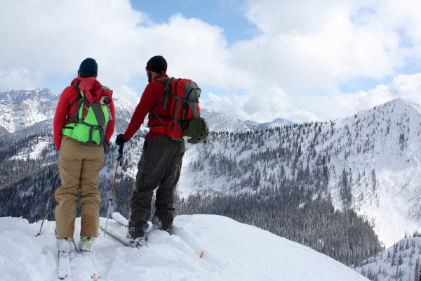 Jess and Dave checking out Wildhorse Ridge and the North Clearcut