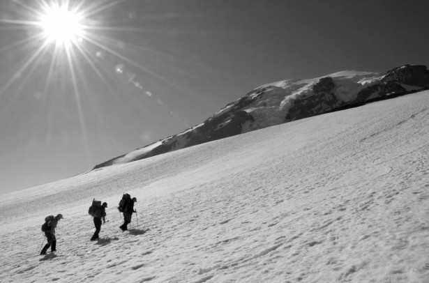 Day 1 approach to Camp Muir