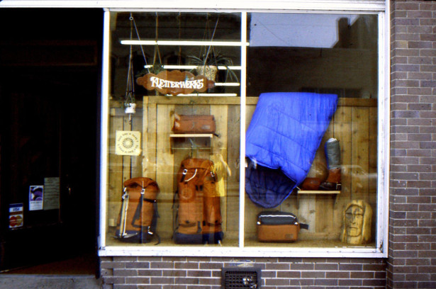 Kletterwerks' store front downtown Bozeman, MT, late 1970s