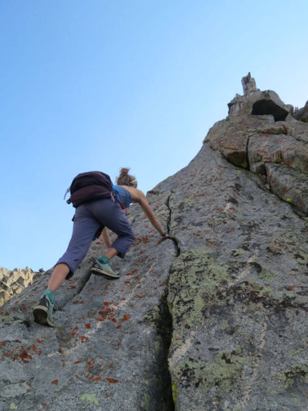 Starting up the ridge of Musambeah. Photo by Hayden Kennedy.